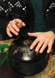 Musikinstrument Hang Drum Hapi vals arkivbild