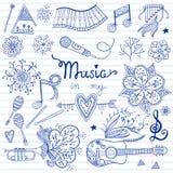 Musikinstrument och beståndsdelar Arkivfoto