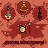 Musikinstrument sänker begreppssymboler vektor illustrationer