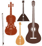 Musikinstrument.  Uppsättning Fotografering för Bildbyråer