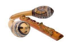 Musikinstrumente von Afrika Stockbild