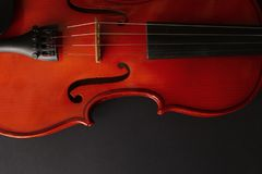 Musikinstrumentfiol Forntida fiol Stränginstrument Arkivfoton
