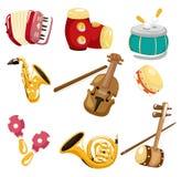 Musikinstrumentikone der Karikatur Stockfoto