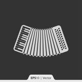Musikinstrumentikone des Akkordeons für Netz und Mobile Lizenzfreie Stockfotos