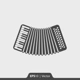 Musikinstrumentikone des Akkordeons für Netz und Mobile Stockfotografie