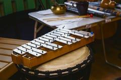 Musikinstrumentmetallophone Royaltyfri Foto
