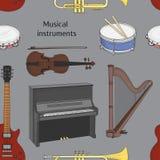 Musikinstrumentmodell royaltyfri illustrationer