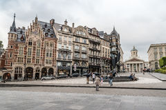 Musikinstrumentmuseum i Bryssel Arkivbild