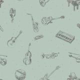 Musikinstrumentmuster Lizenzfreie Stockfotografie