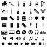 Musikinstrumentsatz Lizenzfreie Stockbilder