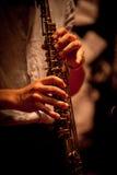 Musikinstrumentspielen Lizenzfreies Stockbild