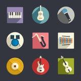 Musikinstrumentsymboler royaltyfri illustrationer