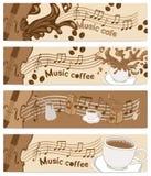 Musikkaffee Lizenzfreie Stockfotos