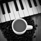 Musikkaffee Kunst Stockfotos