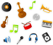 Musikkarikaturen Stockbild