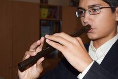 Musikkurser på flöjten arkivfoto