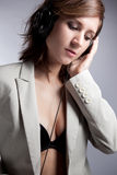musikkvinna Royaltyfri Foto