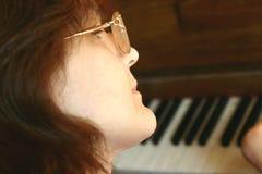 musiklärare royaltyfri foto