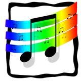 Musiklogo Stock Afbeelding