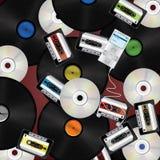 Musikmediahintergrund stock abbildung