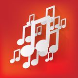 Musiknetzikone, flaches Design Stockbilder