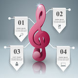 Musikpädagogik Infographic Beachten Sie Ikone Lizenzfreies Stockbild