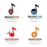 Musikpacke Logo Template Design Vector Royaltyfri Illustrationer