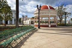 Musikpaviljong på den Jose Marti fyrkanten cuba Cienfuegos fotografering för bildbyråer
