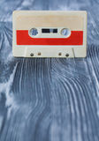 Musikplakat-Konzept des Entwurfes mit Retro- Audiokassette Stockbild