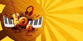 Musikplakathintergrund lizenzfreie abbildung