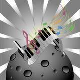 Musikplanet royaltyfri illustrationer