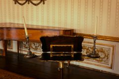 Musikraum des nationalen Palastes Queluz lizenzfreies stockbild