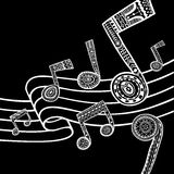 Musikschwarzweiss-Hintergrund Vektor Abbildung