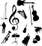 musikset för symboler 95c Arkivbild