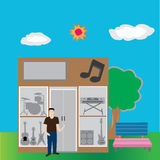 Musikshop Lizenzfreies Stockfoto