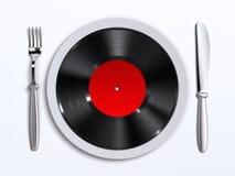 musiksmak Arkivbilder