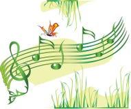 musiksommar Stock Illustrationer