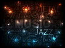 musikstil Royaltyfri Fotografi