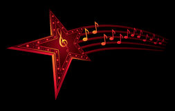 musikstjärna Royaltyfri Fotografi