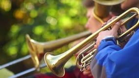 Musikstraßen-Jazzkunst stock video footage