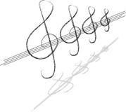 Musiksymbol vektor illustrationer