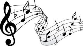 Musiksymbol Arkivfoto