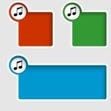 musiksymbol Royaltyfri Fotografi