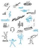 Musiksymboler Arkivfoton