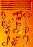 musiksymboler Arkivfoto