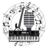 Musiksymbolsdesign Royaltyfri Fotografi