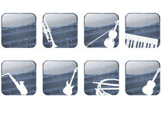Musiktaste Stockfotografie