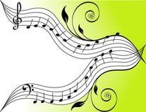 musiktema royaltyfri illustrationer