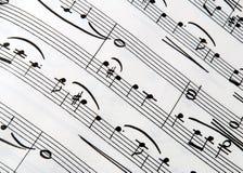 musiktextur Royaltyfri Foto