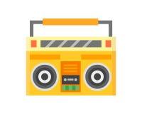 MUSIKtonspieler-Vektorillustration der Retro- Bläserkassettenrecorderstereolithographieaufzeichnungsausrüstung Audio Lizenzfreies Stockbild